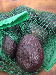 Bag of avocados